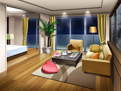 anime background landscape scenery indoor